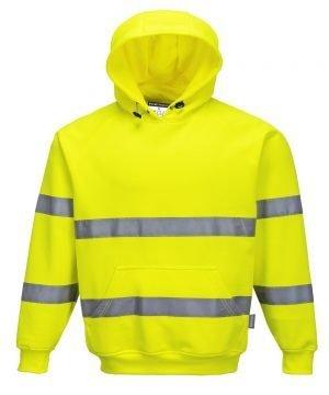 PPG Workwear Portwest Hi Vis Yellow Colour Hooded Sweatshirt B304