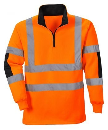 PPG Workwear Portwest Xenon Hi Vis Orange Colour Rugby Shirt B308