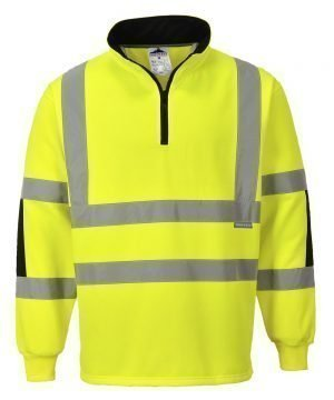 PPG Workwear Portwest Xenon Hi Vis Yellow Colour Rugby Shirt B308