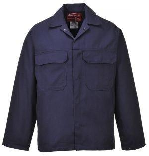 Portwest Bizweld Flame Retardant Jacket BIZ2 Navy Blue Colour