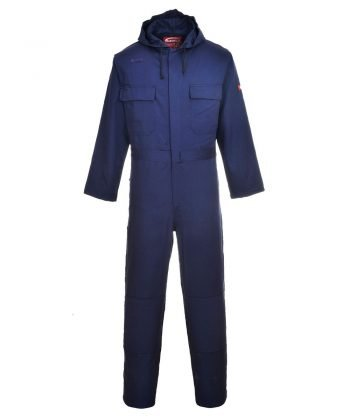 Portwest Bizweld Hooded Flame Retardant Coverall BIZ6 Navy Blue Colour