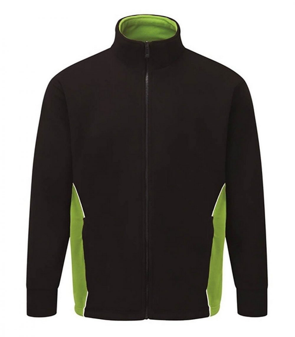 PPG Workwear Orn Silverswift Two Tone Premium Fleece 3180 Black and Lime Colour