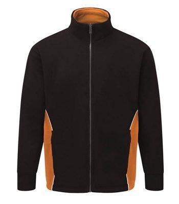 PPG Workwear Orn Silverswift Two Tone Premium Fleece 3180 Black and Orange Colour