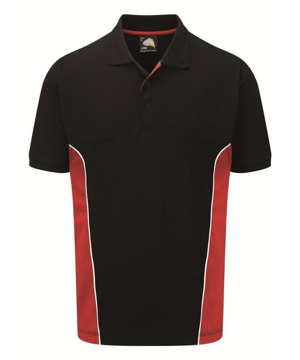 Orn Silverstone Two Tone Premium Polo Shirt 1180 Black and Red Colour