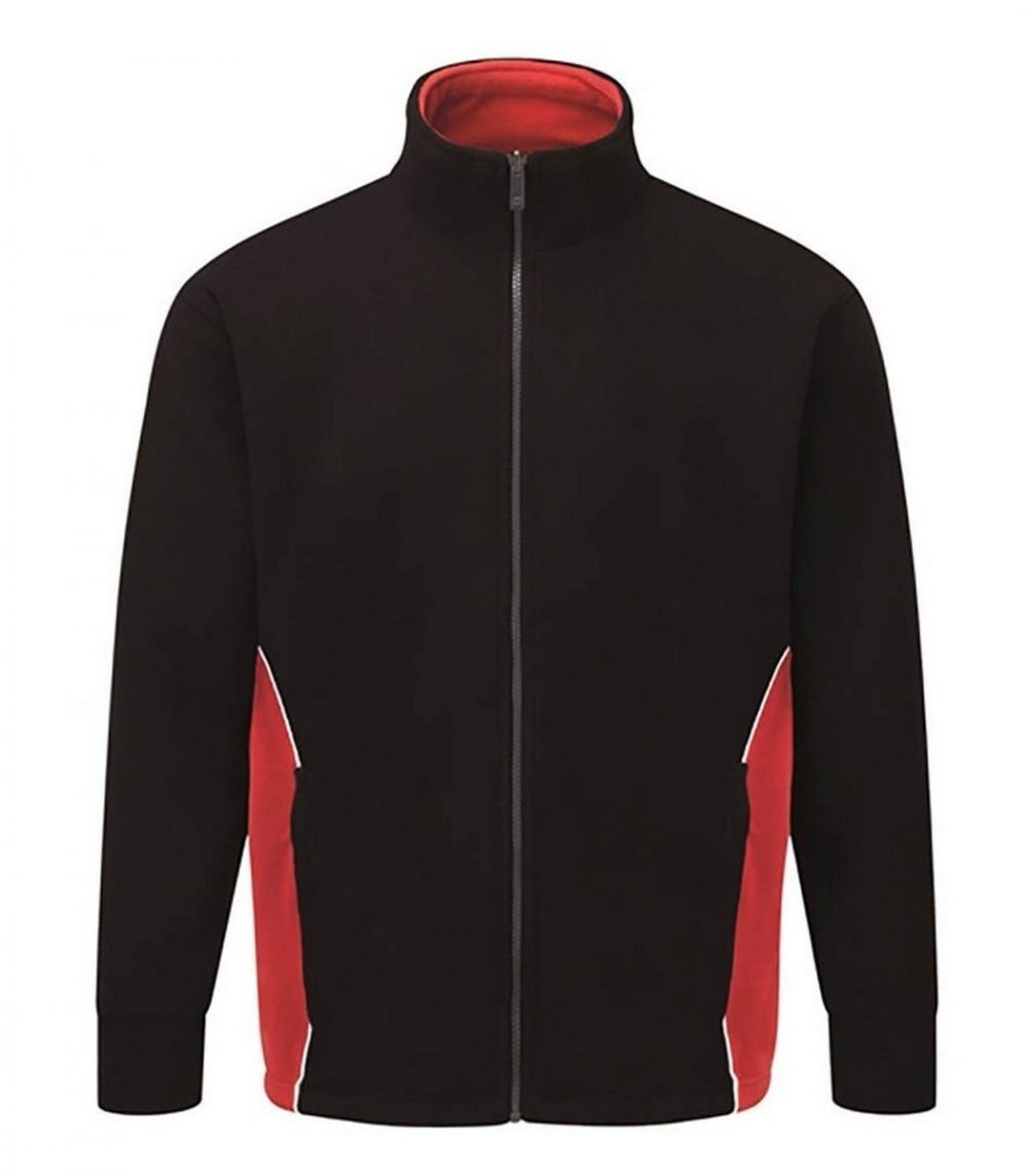 PPG Workwear Orn Silverswift Two Tone Premium Fleece 3180 Black and Red Colour