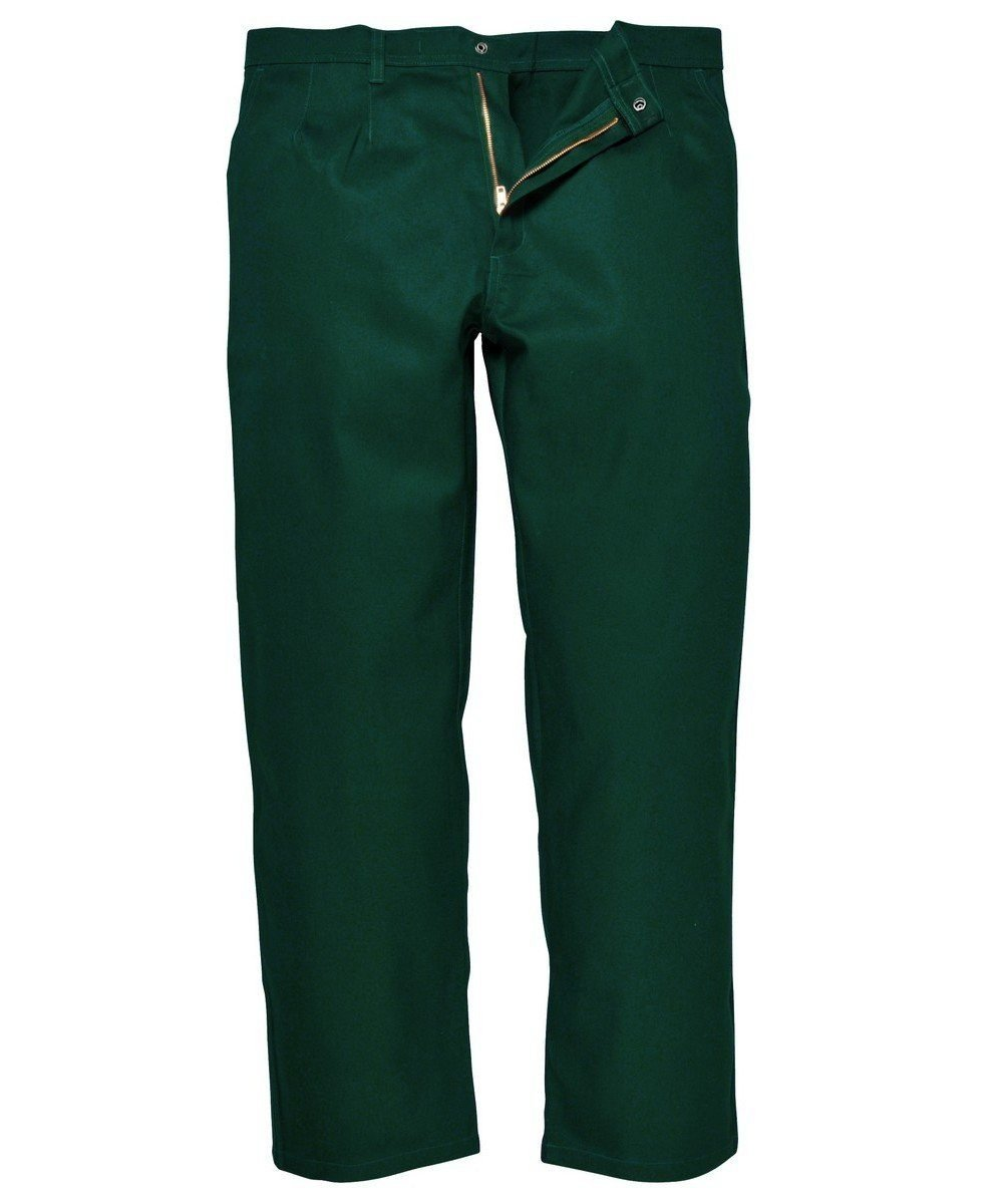 Portwest Bizweld Flame Retardant Trousers BZ30 Bottle Green Colour