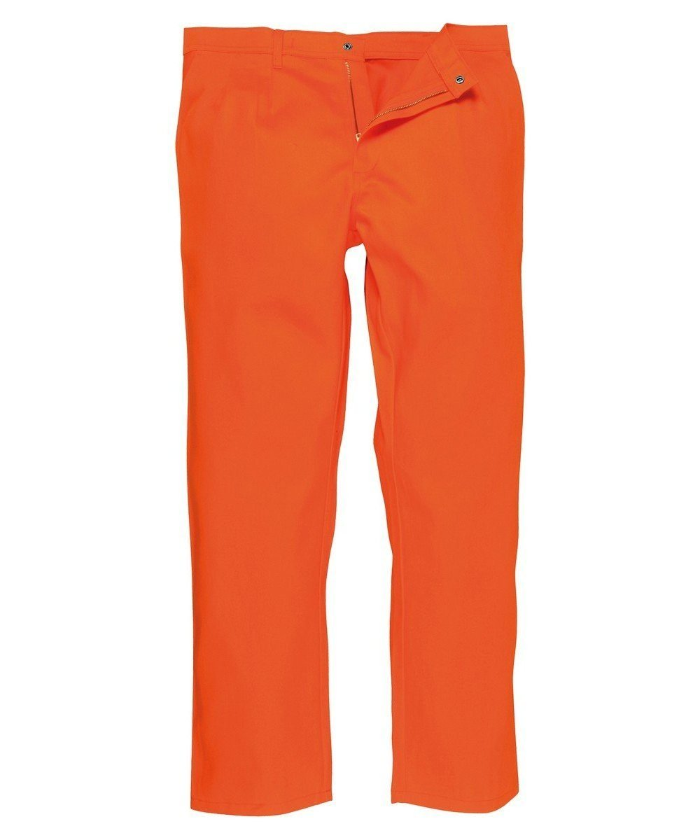 Portwest Bizweld Flame Retardant Trousers BZ30 Orange Colour