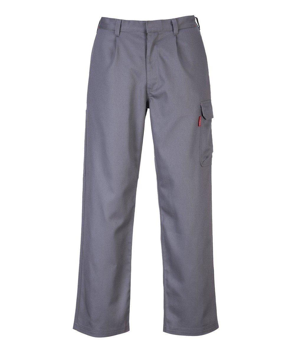 PPG Workwear Portwest Bizweld Flame Retardant Cargo Trousers BZ31 Grey Colour