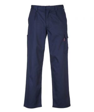 Portwest Bizweld Flame Retardant Cargo Trousers BZ31 Navy Blue Colour