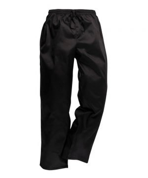 PPG Workwear Portwest Drawstring Black Chefs Trousers C070