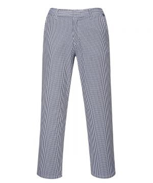 PPG Workwear Portwest Barnet Chefs Trousers C075 Blue and White Check Colour