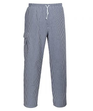 PPG Workwear Portwest Chester Chefs Trouser C078 Blue and White Check Colour