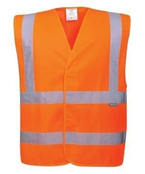 Portwest Hi Vis Orange Colour Two Band Vest C470