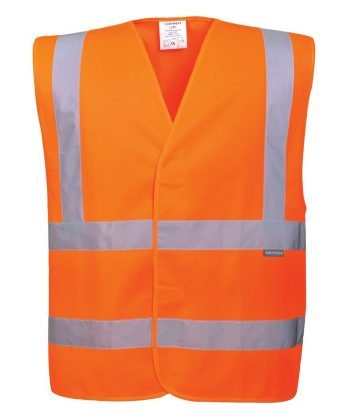 Portwest Hi Vis Orange Colour Two Band Vest C470
