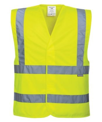 PPG Workwear Portwest Hi Vis Yellow Colour Two Band Vest C470