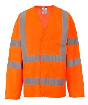 PPG Workwear Portwest Hi Vis Orange Colour Long Sleeved Vest C473