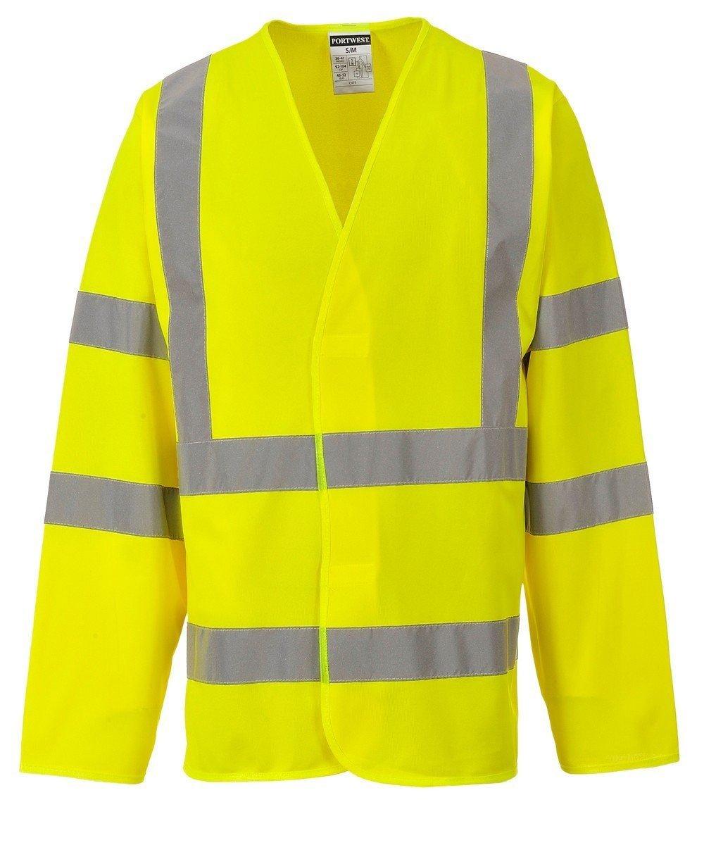 PPG Workwear Portwest Hi Vis Yellow Colour Long Sleeved Vest C473