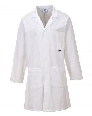 PPG Workwear Portwest Cotton Lab Coat C851 White Colour