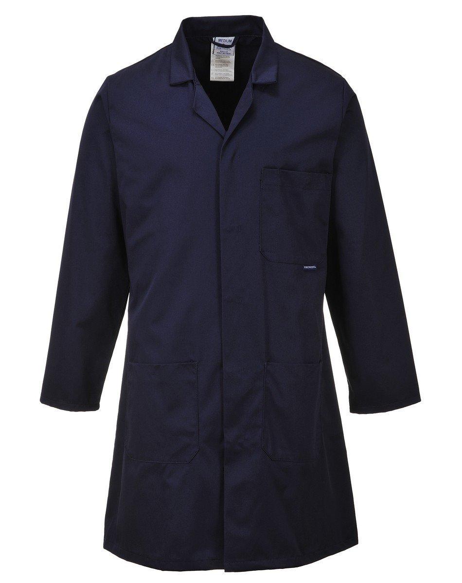 PPG Workwear Portwest Standard Warehouse Coat C852 Navy Blue Colour