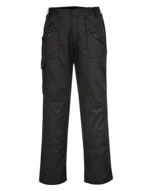 PPG Workwear Portwest Action Trouser With Back Elastication C887 Black Colour