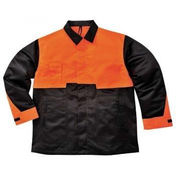 Portwest Oak Chainsaw Jacket CH10 Black and Orange Colour