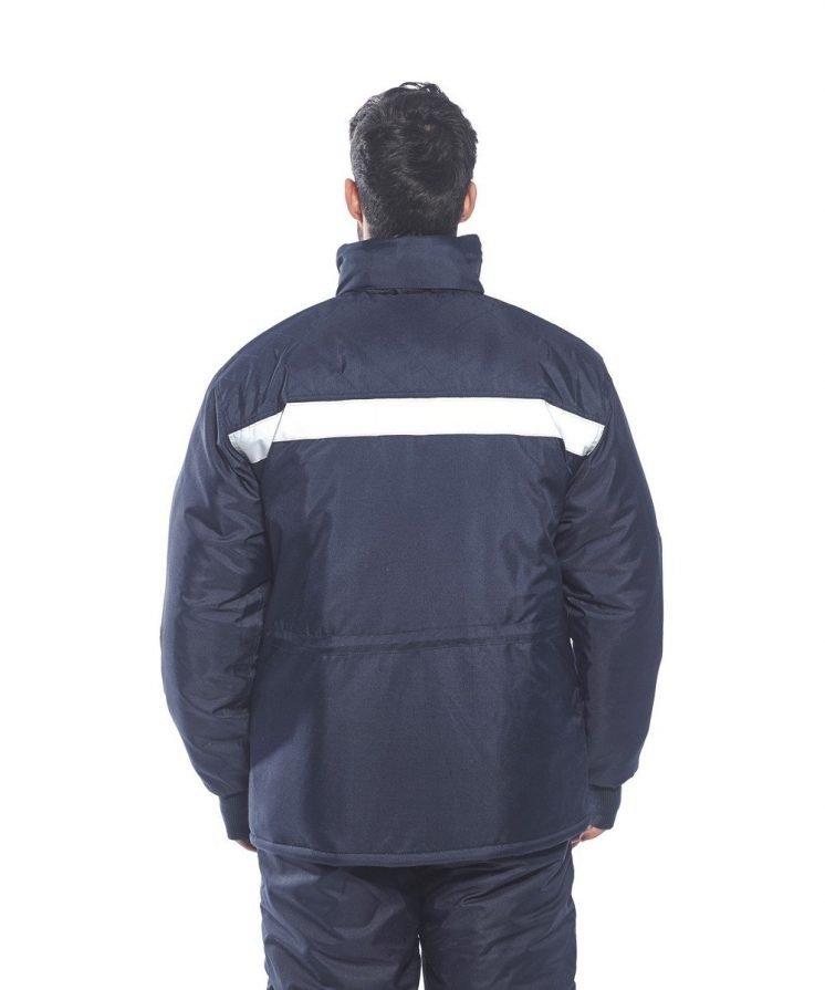 PPG Workwear Portwest Coldstore Jacket CS10 Navy Blue Colour Back View