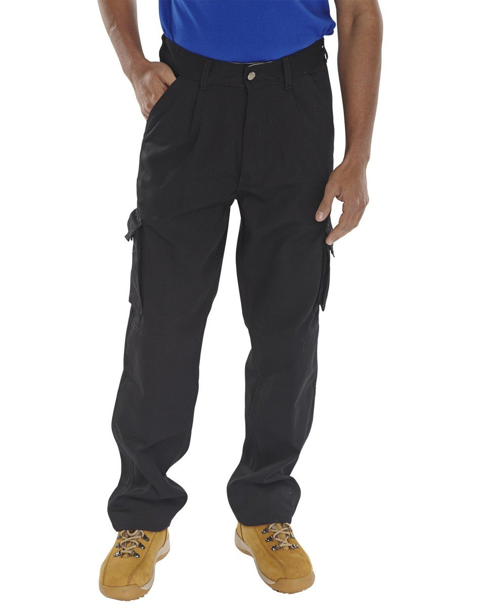 PPG Workwear Click Traders Newark Trousers CTRANT Black Colour