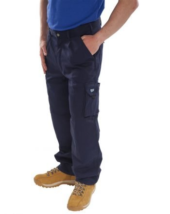 PPG Workwear Click Traders Newark Trousers CTRANT Navy Blue Colour
