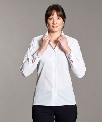 PPG Workwear Disley Womens Double Cuff Blouse White Colour