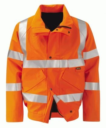 PPG Workwear Orbit Gore-Tex Colorado Orange Colour Hi Vis Bomber Jacket GB2FWBJR