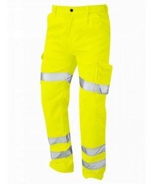 Orn Deluxe Hi Vis Condor Cargo Trouser Yellow Colour 6700