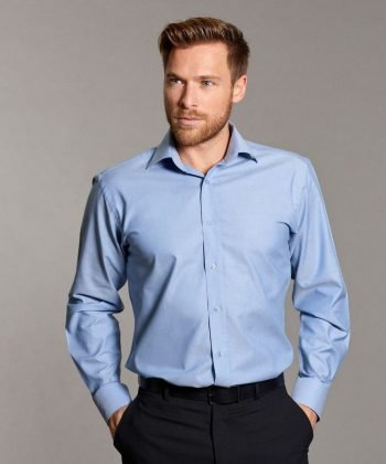 PPG Workwear Disley Mens Oxford Shirt with Cutaway Collar Light Blue Colour