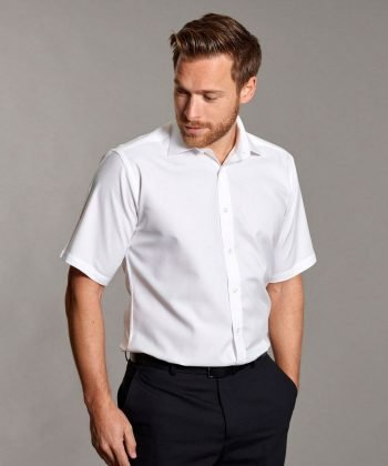PPG Workwear Disley Mens Oxford Shirt with Cutaway Collar White Colour Short Sleeve