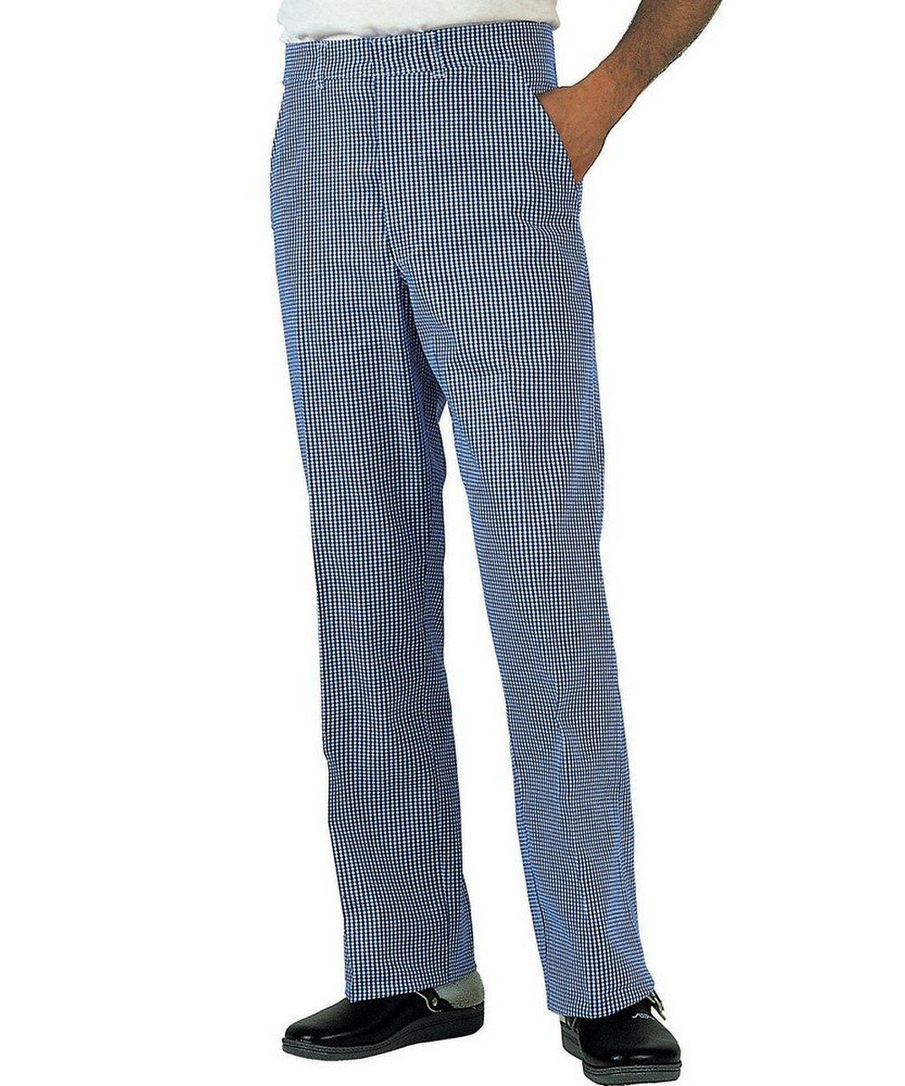 PPG Workwear Dennys Jean Cut Chefs Trousers DC02 Small Blue Check Colour