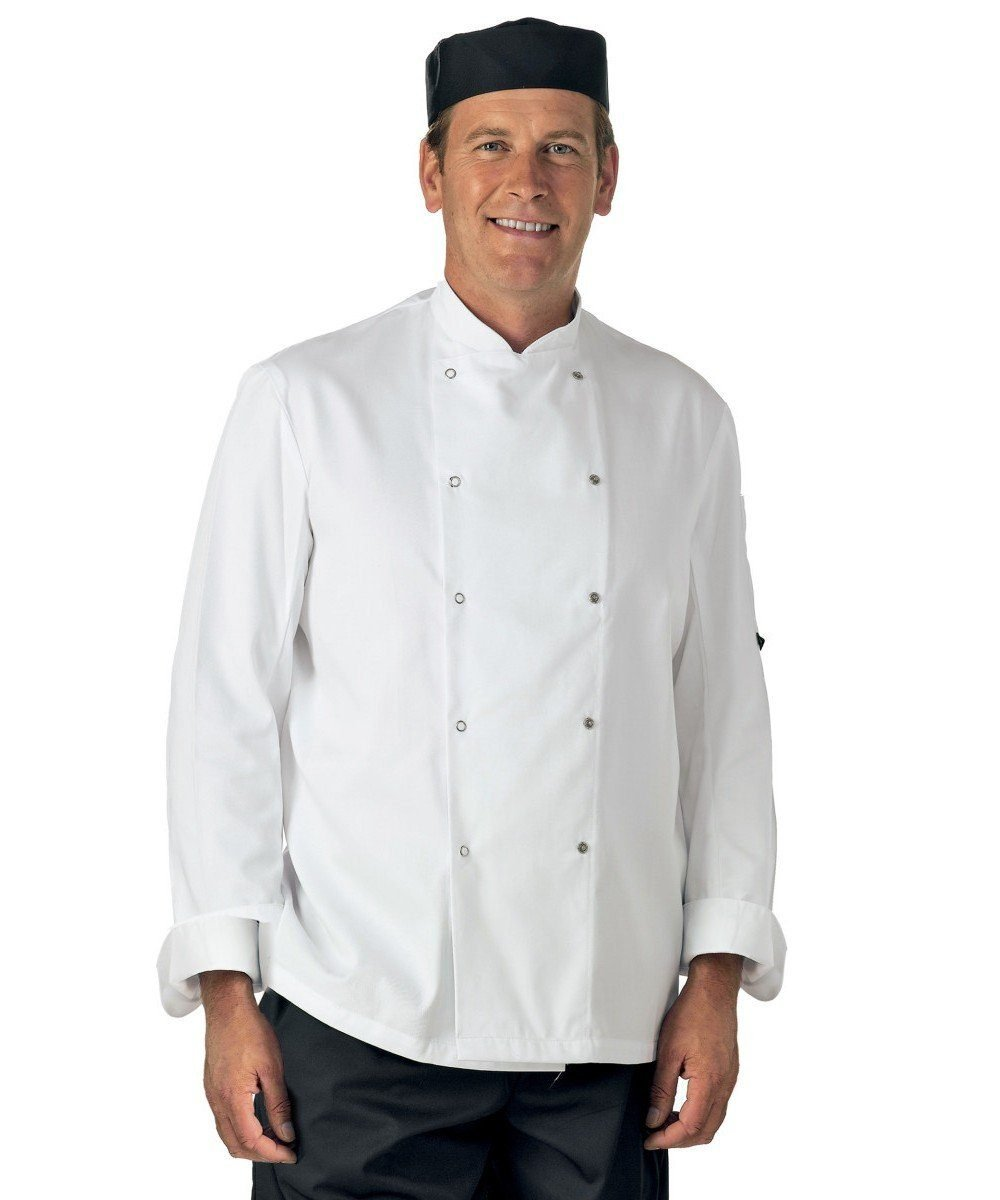 PPG Workwear Dennys Lightweight Long Sleeve Chefs Jacket DD08E White Colour