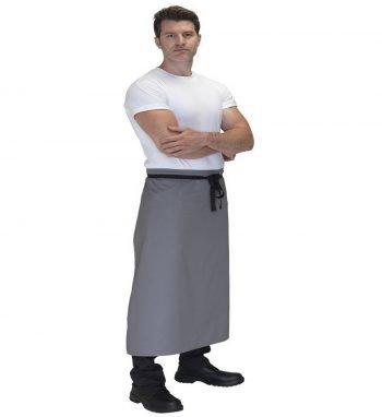 Dennys Large Chefs Square Apron DP01 Grey Colour