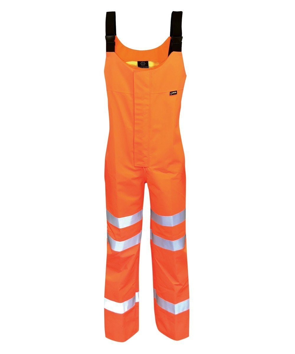 PPG Workwear Orbit Gore-Tex Danube Hi Vis Salopette GB3SAL Orange Colour