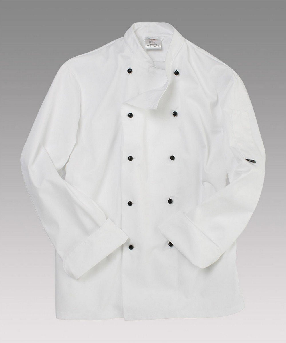Dennys Removable Stud Chefs Jacket DD20 White Colour Long Sleeve