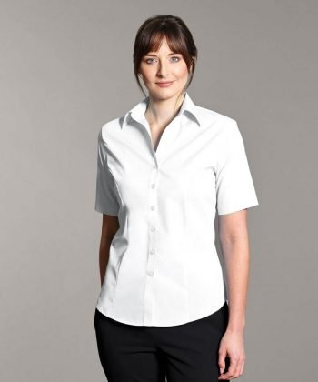 PPG Workwear Disley Womens Non Iron Blouse White Colour Short Sleeve