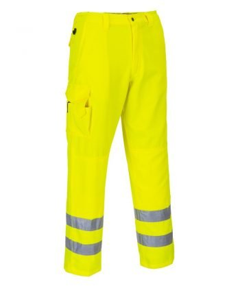 PPG Workwear Portwest Hi Vis Combat Trousers E046 Yellow Colour