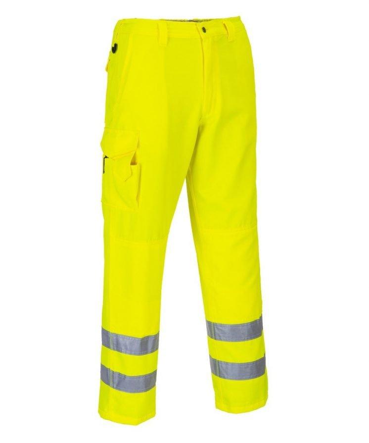 PPG Workwear Portwest Hi Vis Combat Trousers E046 Yellow Colour