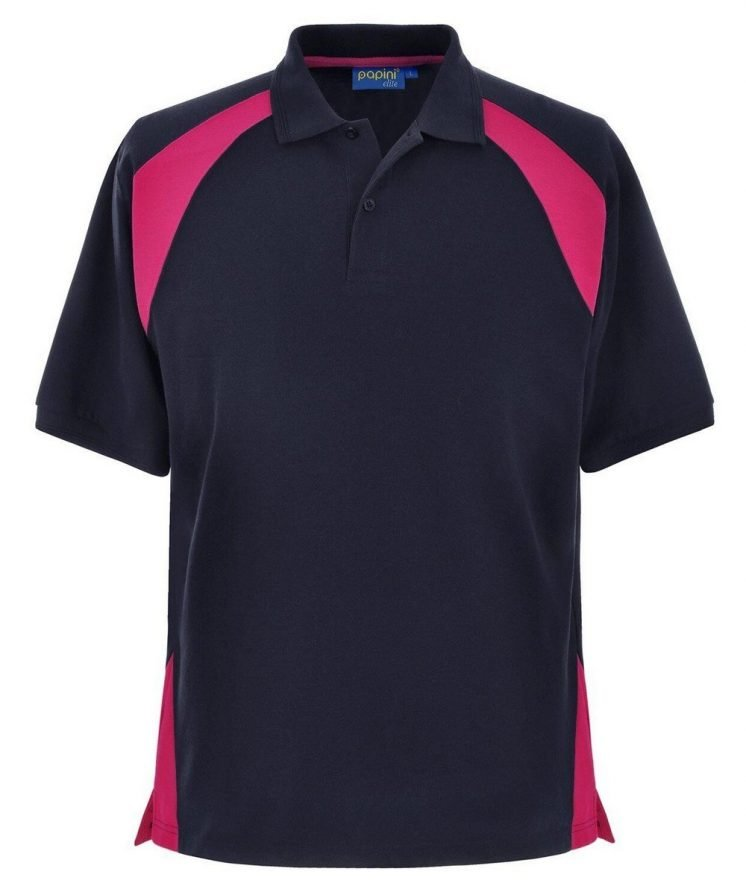 Papini Elite Polo Shirt EL1 Navy Blue and Fuschia Colour