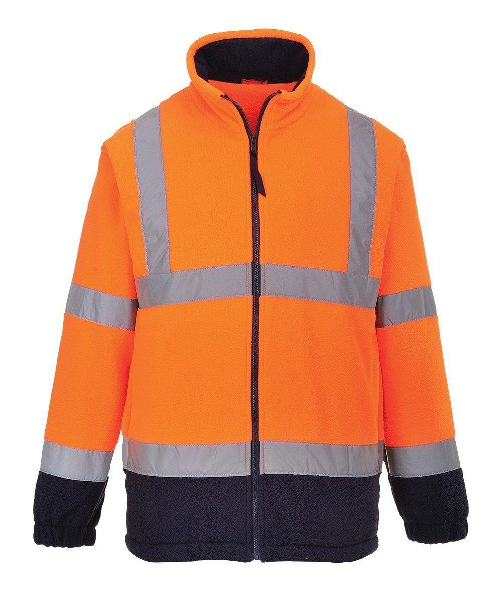 Portwest Hi Vis Two Tone Fleece Orange and Navy Blue Colour F301
