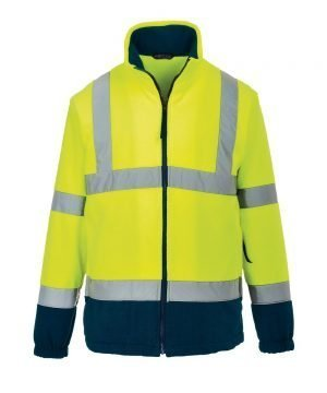 PPG Workwear Portwest Hi Vis Two Tone Fleece Yellow and Navy Blue Colour F301