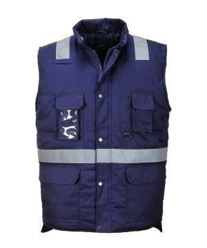 PPG Workwear Portwest Iona Bodywarmer F414 Navy Blue Colour with Refective Bands
