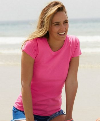 Fruit of the Loom Lady-Fit Valueweight T Shirt 61372