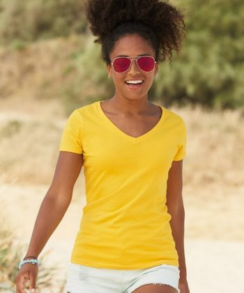 Fruit of the Loom Lady-Fit Valueweight V-Neck T Shirt 61398