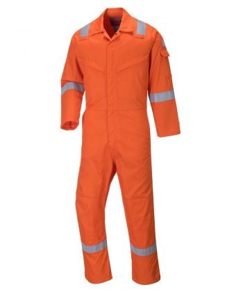 Portwest Aberdeen Flame Retardant Anti-Static Coverall FF50 Orange Colour