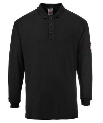 PPG Workwear Portwest Flame Retardant Anti-Static Polo Shirt FR10 Black Colour