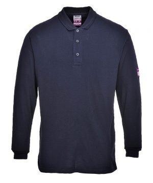 PPG Workwear Portwest Flame Retardant Anti-Static Polo Shirt FR10 Navy Blue Colour